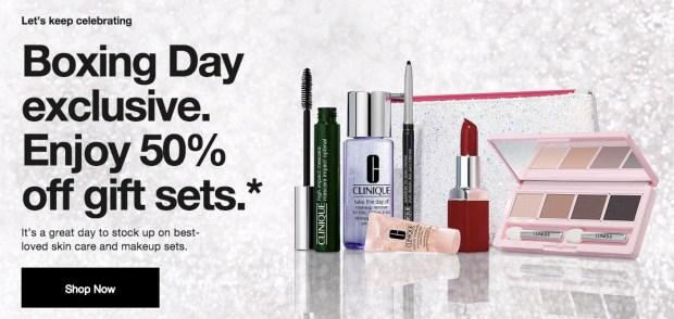 Clinique Canada 2019 Boxing Day Sale 50 Off Holiday Gift Sets Free Shipping Hot Canadian Deals - Glossense