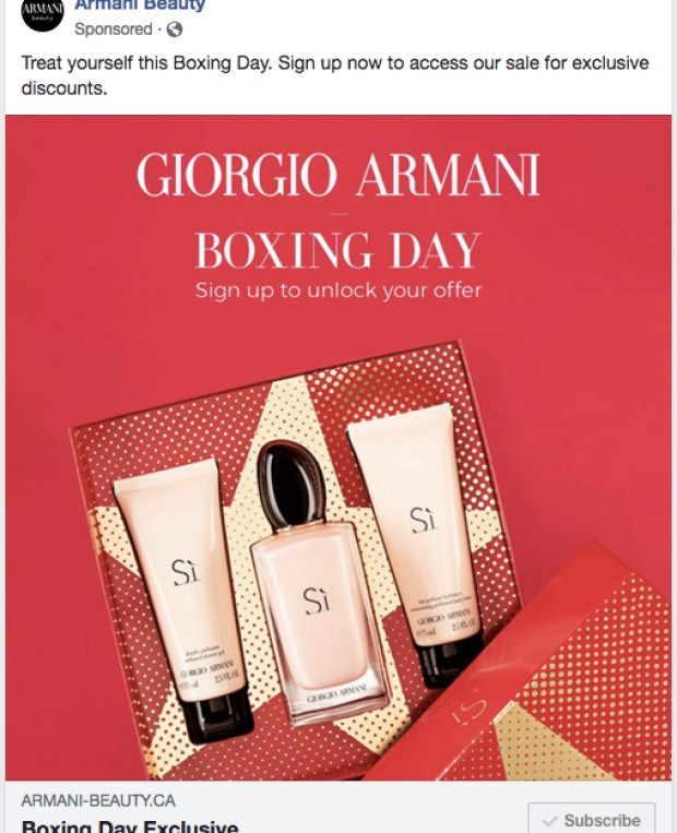 Giorgio Armani Canada 2019 Boxing Day Sale Canadian Deals Coming Soon Get Early Access - Glossense