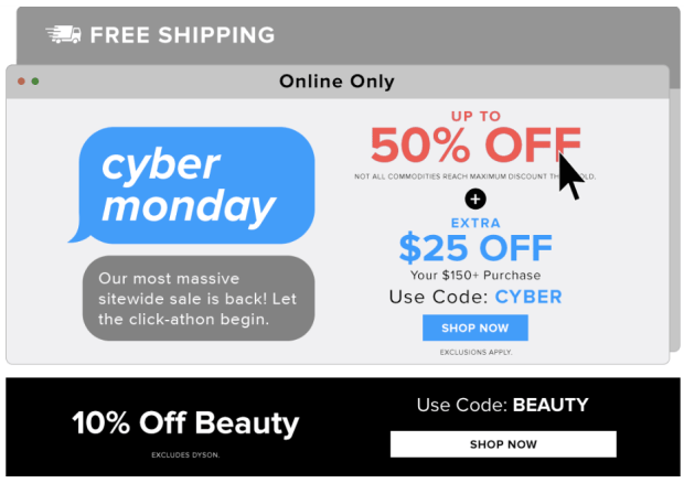 Hudson's Bay HBC The Bay Canada 2019 Cyber Monday Canadian Deals Sale Save on Beauty Free Shipping - Glossense