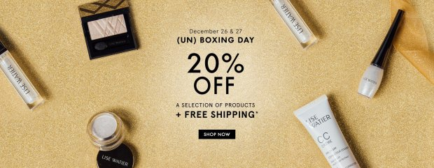 Lise Watier Canada 2019 Boxing Day Sale 20 Off Free 5-pc Gift Set with Purchase FREE Shipping Canadian Deals GWP Offer - Glossense