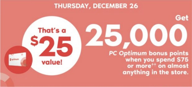 Shoppers Drug Mart Canada SDM 2019 Boxing Day Canadian Beauty Boutique PC Optimum Offer Bonus Beauty Get Rewarded Free PC Points December 26 2019 - Glossense