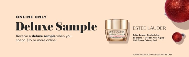 Shoppers Drug Mart SDM Beauty Boutique Canada 2019 Canadian Freebies Deals GWP Free Estee Lauder Anti-Aging Creme Cream Mini Deluxe Sample - Glossense