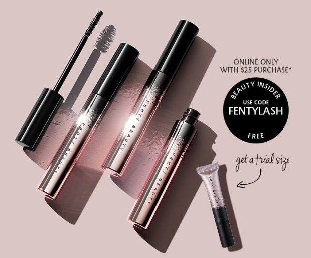 Sephora Canada Canadian Promo Code Coupon Codes Beauty Offer Free Fenty Beauty Full Frontal Mascara Sample GWP Deluxe Mini Gift Purchase - Glossense