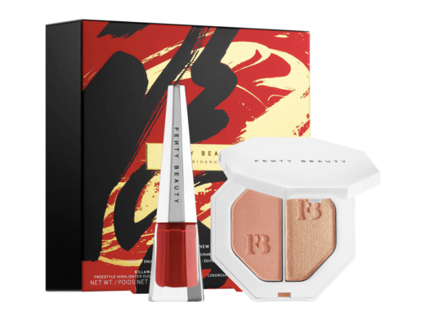 Sephora Canada Fenty Beauty by Rihanna NEW Stunna Lunar New Year Highlighter Lip Set 2020 Chinese New Year Canadian New Release - Glossense