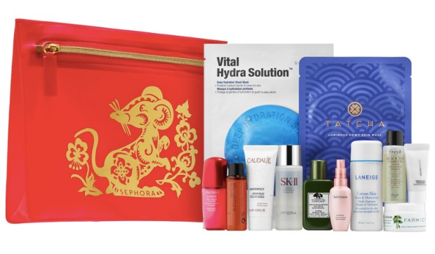 Sephora Canada New Favorites Set 2020 Lunar New Year Kit Year of the Rat Bag 12-pc Collection of Luxe Skincare Canadian Deals - Glossense