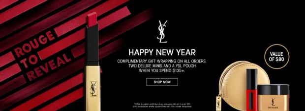 Yves Saint Laurent Canada 2020 Lunar New Year GWP Free 3-pc Gift Set Chinese New Year Canadian Deals - Glossense