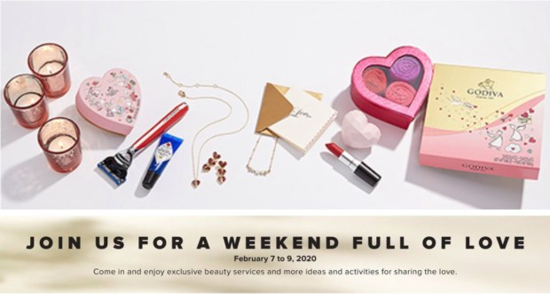 Hudson's Bay Canada Full of Love In-Store Canadian Event Valentine's Day February 2020 - Glossense