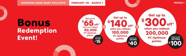 Shoppers Drug Mart Beauty Boutique SDM Canada Super Spend Your Canadian PC Optimum Points Redemption Event Feb 28 Mar 1 2020 - Glossense