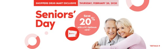 Shoppers Drug Mart Canada SDM Beauty Boutique Seniors Bonus Day February 20 2020 PC Optimum Card Bonus Save Canadian Sale Earn PC Optimum Points - Glossense