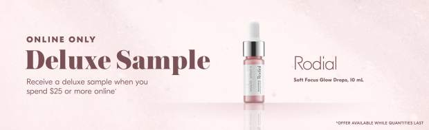 Shoppers Drug Mart SDM Beauty Boutique Canada 2020 Canadian Freebies Deals GWP Free Rodial Soft Focus Glow Drops Mini Deluxe Sample - Glossense