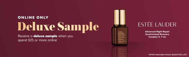 Shoppers Drug Mart SDM Beauty Boutique Canada Canadian Freebies Deals GWP Free Estee Lauder Advanced Night Repair Synchronized Recovery Complex Skincare Mini Deluxe Sample February 2020 - Glossense