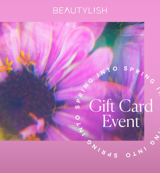 Beautylish Canada 2020 Spring Gift Card Event Launches Today March 25 - 28 2020 Annual Canadian Spring Promotion - Glossense