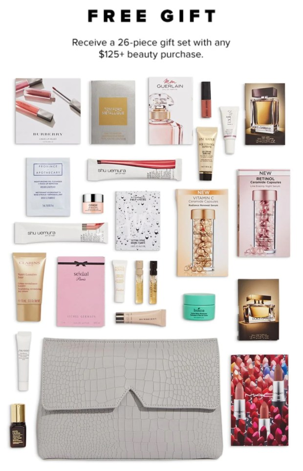 Hudson's Bay Canada The Bay HBC Beauty Week March 2020 Spring Canadian Deals Beauty Gift with Purchase GWP Bonus Offer Samples Makeup Bag - Glossense