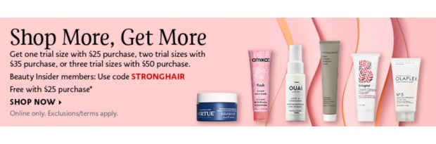 Sephora Canada Canadian Promo Code Coupon Codes Pick Choose 1 to 3 Mini Deluxe Trial Travel Samples Minis Beauty Hair Offer GWP Spring Deal March 2020 - Glossense