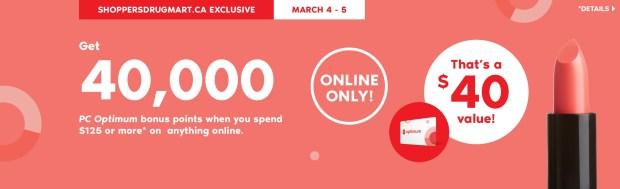 Shoppers Drug Mart SDM Beauty Boutique Canada Canadian PC Optimum Points Day Multiple Bonus Points Online Offer Promotion March 2020 - Glossense