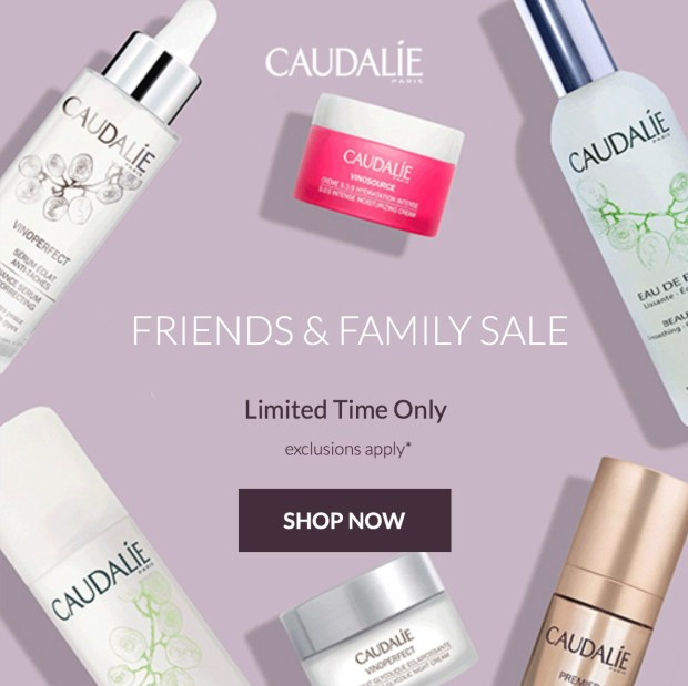 Caudalie Canada Friends Family Sale Save 20 Off Up to 50 Off Premium Offers Free Shipping ANY Order Spring 2020 Canadian Beauty Deals - Glossense