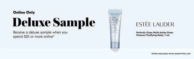 Shoppers Drug Mart SDM Beauty Boutique Canada 2020 Canadian Freebies Deals GWP Free Estee Lauder Foam Cleanser Mask Mini Deluxe Sample - Glossense