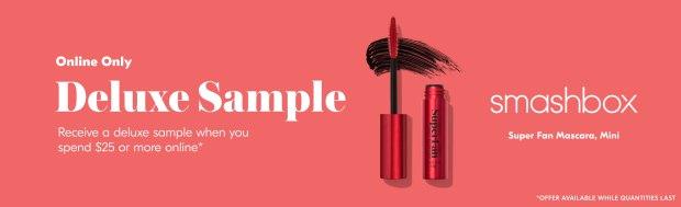 Shoppers Drug Mart SDM Beauty Boutique Canada April 2020 Canadian Freebies Deals GWP Free Smashbox Super Fan Mascara Makeup Mini Deluxe Sample - Glossense