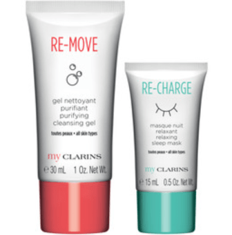 Shoppers Drug Mart SDM Canada GWP Shop Clarins Online Receive Free Re-Move Re-Charge Skincare Duo Canadian Gift with Purchase Offer - Glossense
