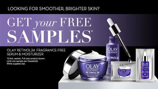 Canadian Freebies Free Olay Regenerist Retinol 24 Night Serum Moisturizer Samples - Glossense