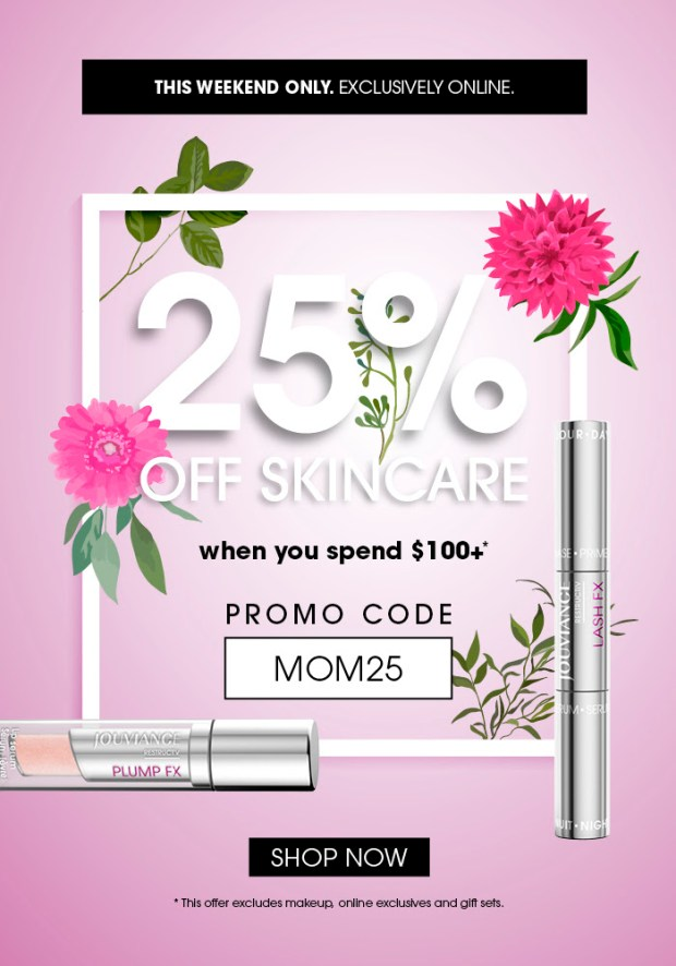 Jouviance Canada Save 25 Off Skincare Mother's Day 2020 Canadian Deals Promo Code - Glossense