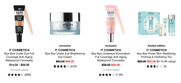 Sephora Canada Hot Sale IT Cosmetics Concealers Select Skincare 2020 Canadian Deals - Glossense