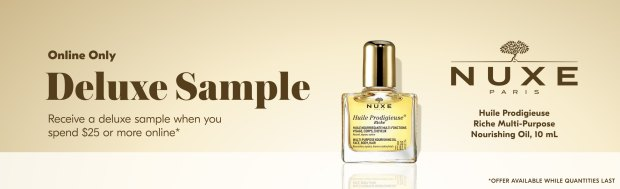 Shoppers Drug Mart Canada SDM Beauty Boutique Free Nuxe Huile Prodigieuse Nourishing Oil Deluxe Sample - Glossense