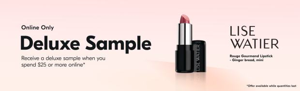 Beauty by Shoppers Drug Mart Canada Free Lise Watier Rouge Gourmand Lipstick Deluxe Mini Sample - Glossense