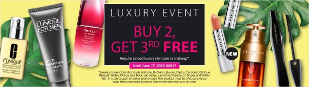 London Drugs Canada Luxury Beauty Event Buy 2 Get 1 Free on All Luxury Skincare Makeup Fragrance 2020 Canadian Deals Sale - Glossense