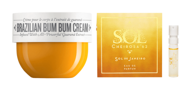 Sephora Canada Promo Code Free Sol de Janeiro Body Joy Bum Bum Cream Cheirosa 62 Perfume Duo Sample Set Canadian GWP Beauty Offers - Glossense