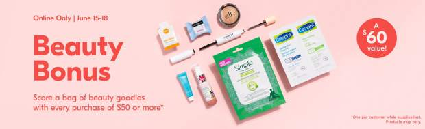 Shoppers Drug Mart Canada GWP Free Beauty Bonus Bag of Goodies Full-size Mini Deluxe Samples June 2020 Canadian Promo - Glossense