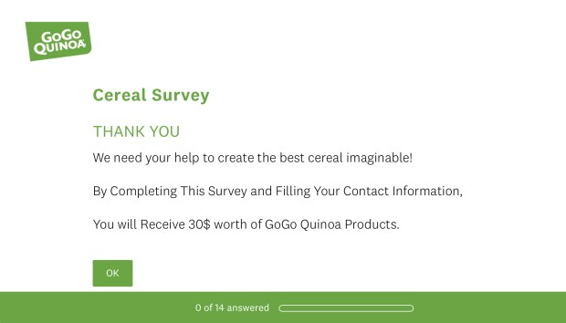 Canadian Freebies Take Survey Get 30 Worth of Free GoGo Quinoa Products - Glossense