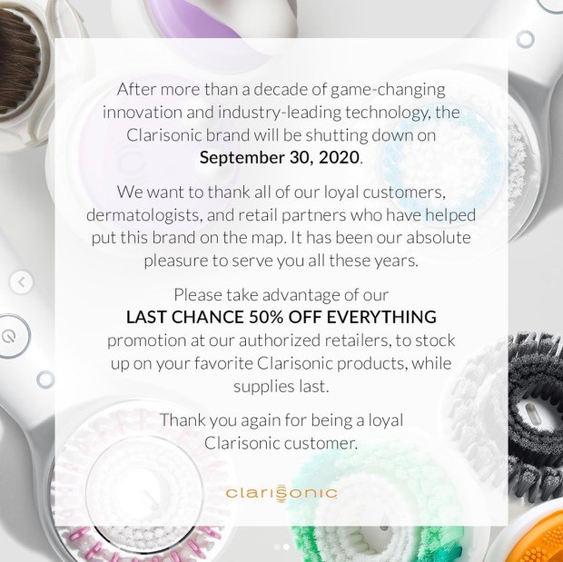 Clarisonic Canada Closing Sale 50 Off Everything 2020 Canadian Deals Last Chance 2 - Glossense