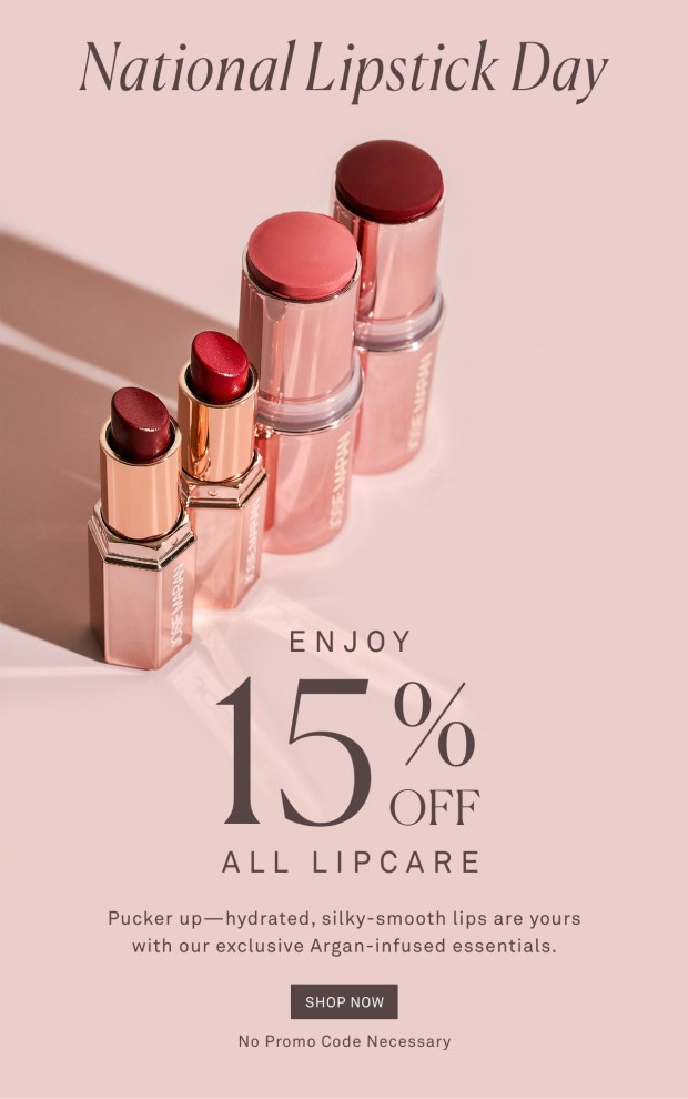 Josie Maran Cosmetics National Lipstick Day Sale Save 15 Off All Lipcare 2020 Canadian Deals - Glossense