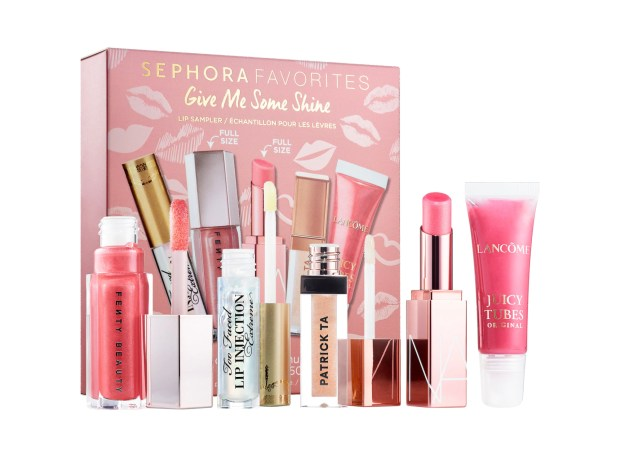 Sephora Canada New Favorites Set Give Me Some Shine Fall Lip Set Balm Gloss Sampler NOW Live - Glossense