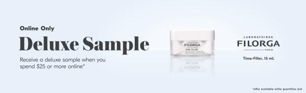 Shoppers Drug Mart Canada Free Filorga Time-Filler Cream Mini Deluxe Sample Purchase - Glossense