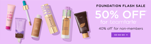 Tarte Cosmetics Canada 50 Off Foundations 2020 HOT Canadian Deals Sale Coupon Code - Glossense