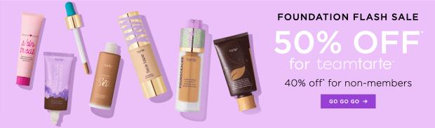 Tarte Cosmetics Canada 50 Off Foundations 2020 HOT Canadian Deals Sale Coupon Code - Glossense