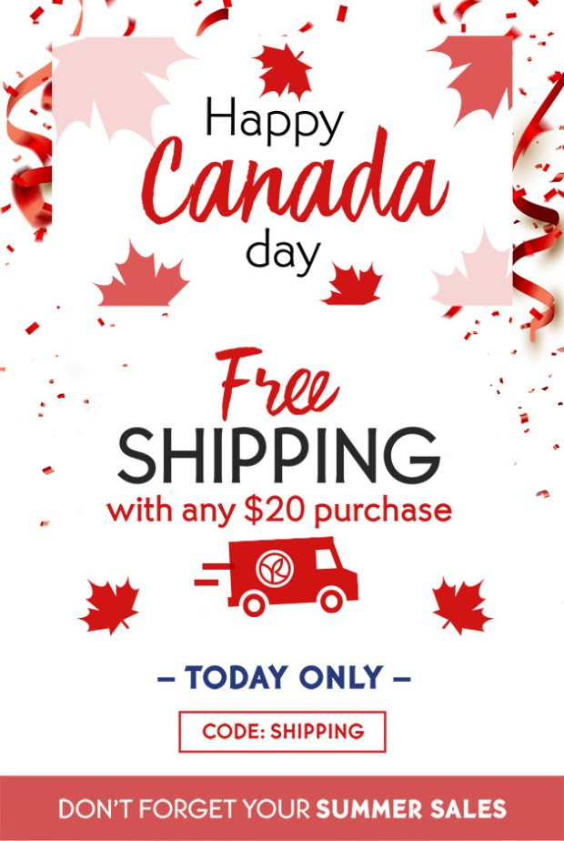 Yves Rocher Canada Free Shipping for Canada Day Any 20 Order 2020 Canadian Deals Promo Code - Glossense