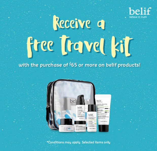 Nature Collection Canada Shop Belif Receive a Free Travel Kit 2020 Canadian Gift Purchase Offer - Glossense