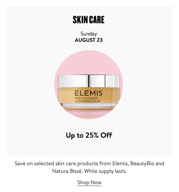 Nordstrom Canada Glam-Up Day 5 Save Up to 25 Off Select Skincare Canadian Anniversary Sale Event Daily Deal August 23 2020 - Glossense