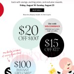 Sephora Canada First Look at Beauty Insider Welcome Back Prizes Rewards Canadian Event August 2020 - Glossense