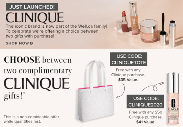 Well Canada New Brand Launch Clinique Now Available Free Gifts Purchase Canadian New Releases - Glossense