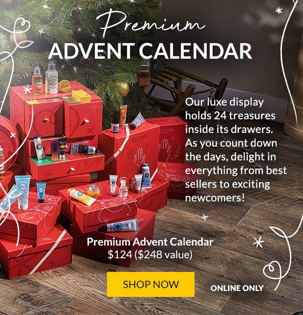 L'Occitane en Provence Canada 2020 Premium Luxury Canadian Holiday Christmas Advent Calendar - Glossense