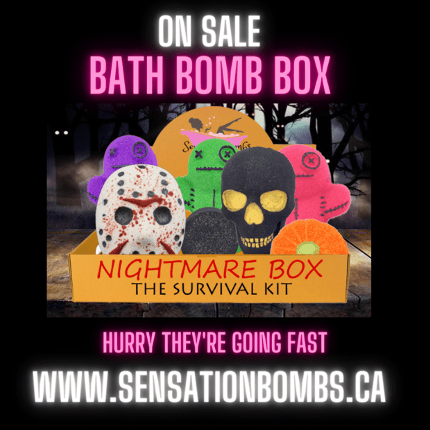 Sensation Bombs Canada Save 10 Off Halloween Bath Bomb Box Canadian Deals Sale - Glossense