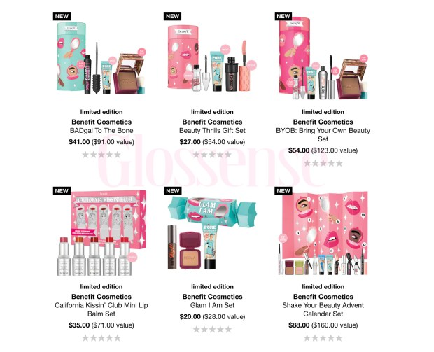 Sephora Canada Benefit Cosmetics 2020 Holiday Christmas Collection Canadian New Releases Gift Ideas - Glossense