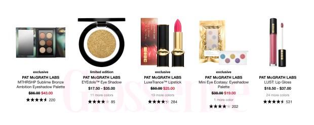 Sephora Canada Hot Sale 50 Off Pat McGrath Labs LuxeTrance Lipsticks EYEdols Palettes More 2020 Canadian Deals - Glossense