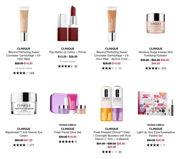 Sephora Canada Hot Sale Up to 50 Off Clinique Makeup Skincare Labour Day 2020 Canadian Deals - Glossense