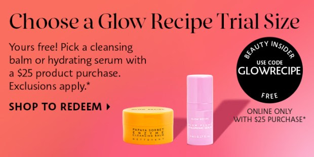 Sephora Canada Promo Code Free Glow Recipe Plum Serum or Papaya Cleansing Balm Deluxe Mini Sample Canadian GWP Beauty Offer - Glossense