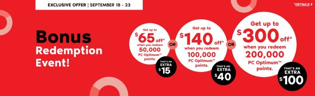 Shoppers Drug Mart Canada PC Optimum Exclusive Spend Your Points Bonus Redemption Event September 18 - 23 2020 - Glossense